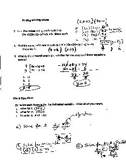 Printables Algebra 1 Review Worksheet high school algebra 1 review worksheets keystone exam fsa eoc packet answers 1